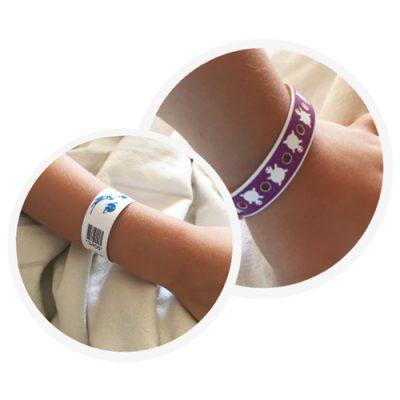 Modelos pulseras pediatricas