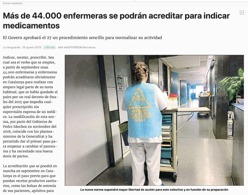 Noticia La Vanguardia chalecos medicacion