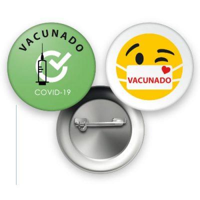 Insignias vacunación COVID